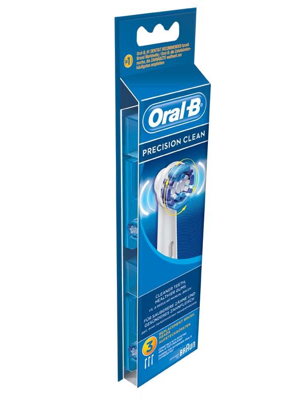 ORAL B TESTINE DI RICAMBIO PRECISION CLEAN 3 PEZZI