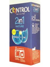 CONTROL 2 IN 1 NATURE 3 KIT PRESERVATIVO + GEL LUBRIFICANTE