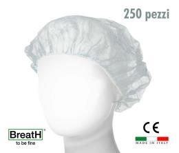 Cuffie monouso TNT bianco con elastico - confezione 250 pezzi