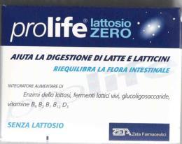PROLIFE LATTOSIO ZERO 30 CAPSULE DA 440 MG ENZIMI DIGESTIVI DEL LATTOSIO
