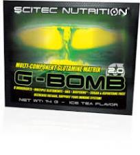SCITEC NUTRITION G-BOMB 2.0 - MISCELA DI GLUTAMMINA GUSTO TE AL LIMONE - 25 BUSTINE DA 14 G