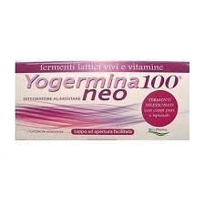 YOGERMINA 100 NEO - INTEGRATORE ALIMENTARE DI FERMENTI LATTICI - 7 FLACONCINI MONODOSE DA 8 ML
