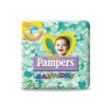 PAMPERS BABY DRY 2 - PANNOLINI MINI 3-6 KG - 24 PEZZI