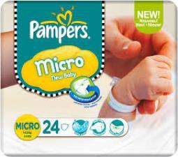 PAMPERS MICRO - PANNOLINI 1-2,5 KG - 24 PEZZI
