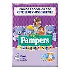 PAMPERS PROGRESSI 4 - PANNOLINI MAXI 7-18 KG - 24 PEZZI
