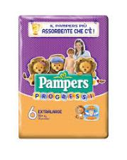 PAMPERS PROGRESSI 6 - PANNOLINI EXTRALARGE 16+ KG - 18 PEZZI